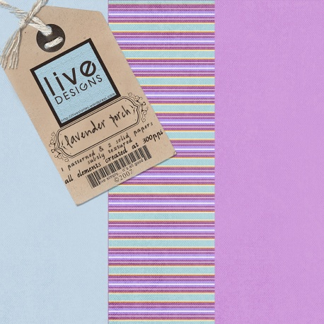 LivEdesigns Lavender Porch Paper Pack 3