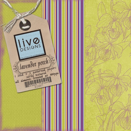 LivEdesigns Lavender Porch Paper Pack 2