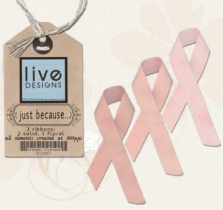 LivEdesigns Just Because Pink Ribbons