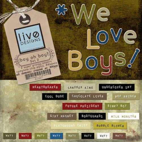 LivEdesigns Boy Oh Boy Set2 Preview