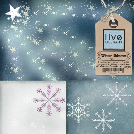 LivEdesigns Winter Shimmer Set 1 Preview