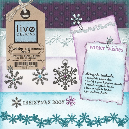 LivEdesigns Winter Shimmer Set 3