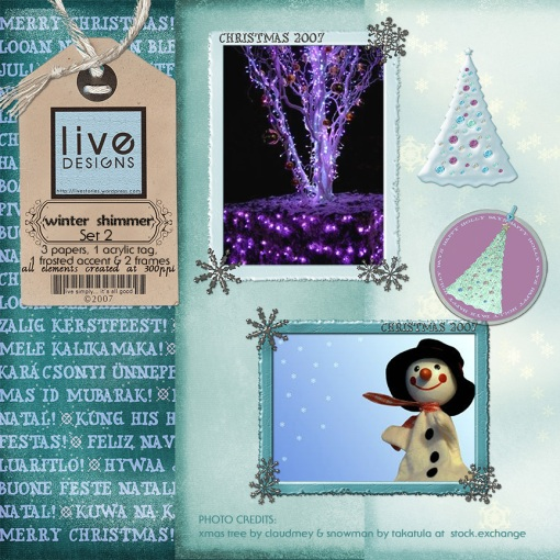 LivEdesigns Winter Shimmer Set 2 Preview