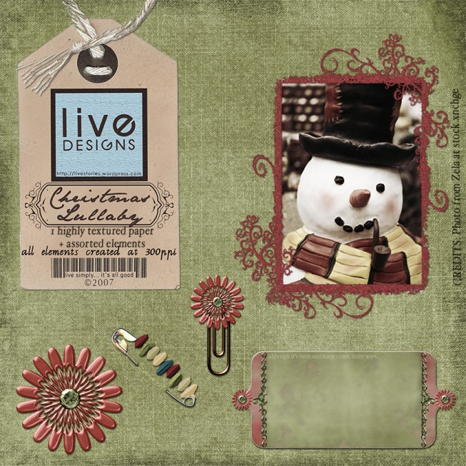 LivEdesigns Christmas Lullaby Set 3Preview