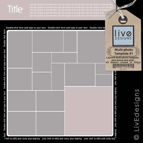 LivEdesigns Multi-photo Template No. 1
