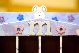 Step 8 - Attach other embellishments to the top of the shelf to complete the look.
