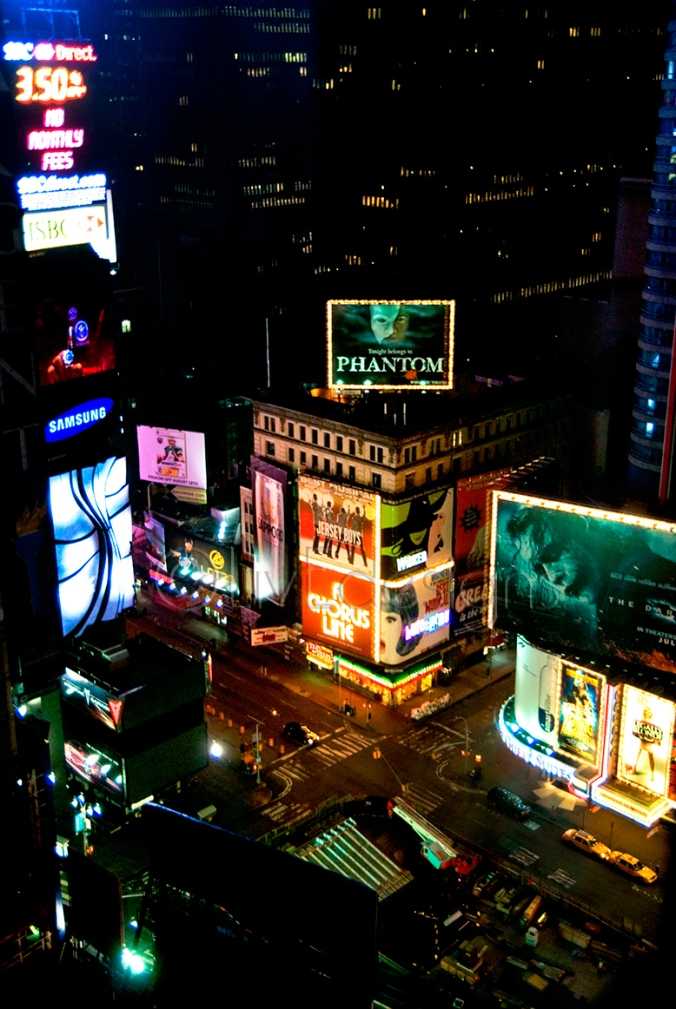 New York Times Square - the view from our hotel room window