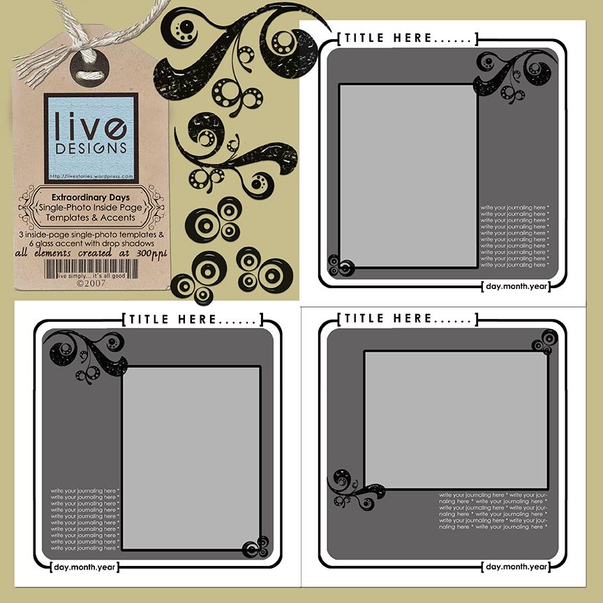 album templates live simply