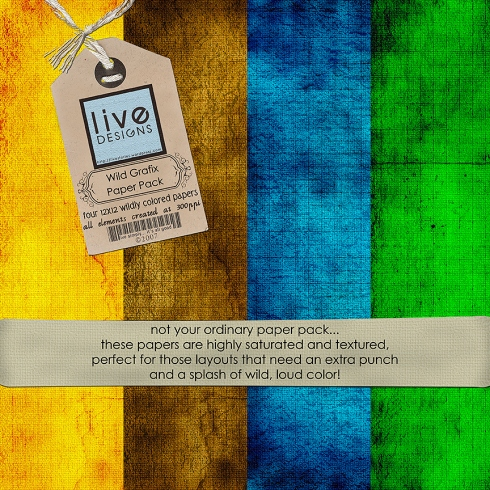 LivEdesigns Wild Grafix Paper Pack