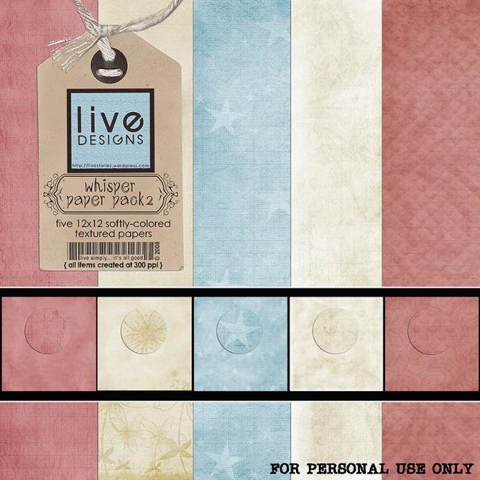 LivEdesigns Whisper Paper Pack 2
