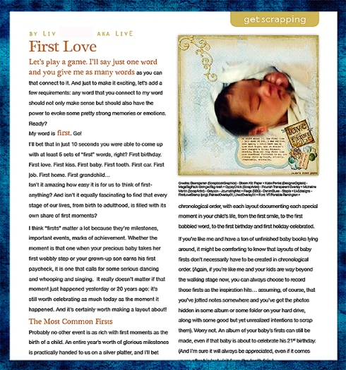 First Love Article