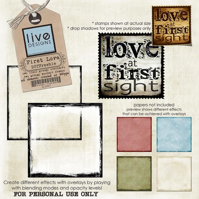LivEdesigns First Love - DST September Newsletter Freebie
