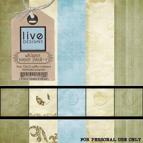 LivEdesigns Whisper Paper Pack 1