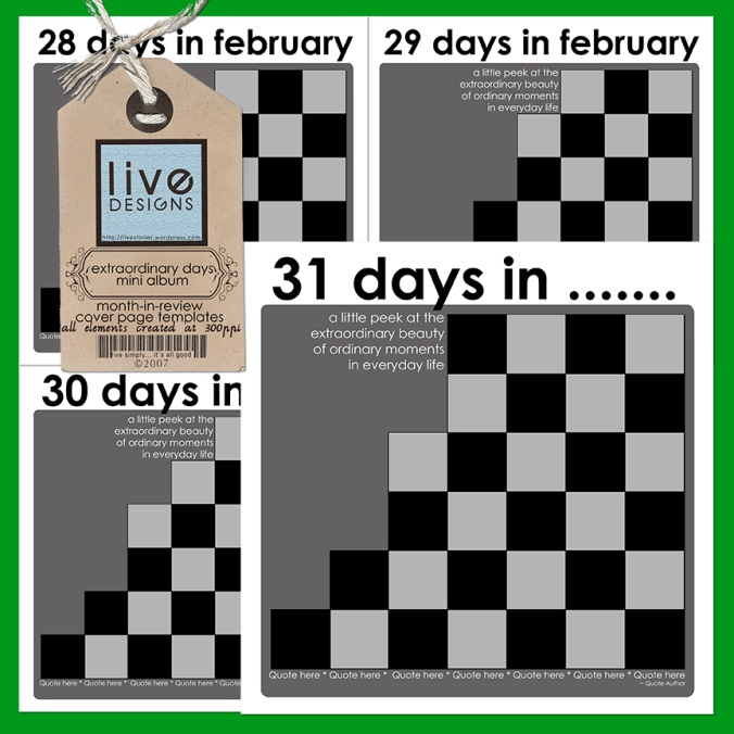 LivEdesigns Extraordinary Days Album - Cover Page Templates (Link Renewed)