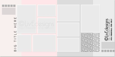 LivEdesigns Santorini Double-Page Layered Template