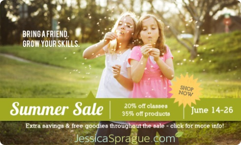 Super Summer Sale at JessicaSprague.com